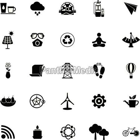 clean concept icons on white background