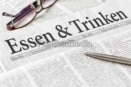 restaurante jornal tageblatt informacoes escritorio alimento