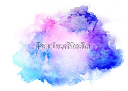 fundo azul da aguarela da tinta