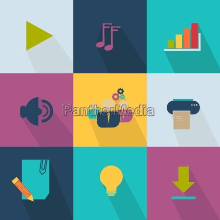 icone do negocio estilo web