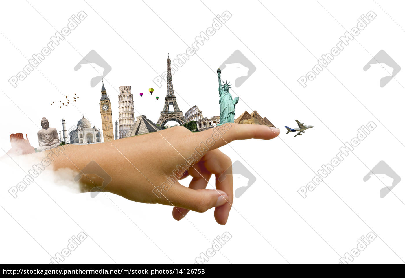 ilustração, do, famoso, monumento, do, mundo - 14126753