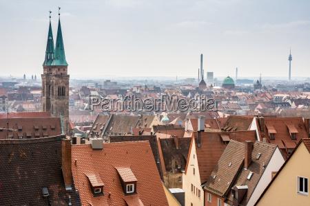 vista sobre a cidade de nuremberg