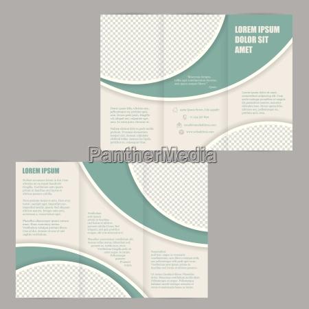 template flyer design brochura com tres