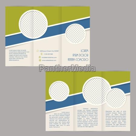 design de modelo de brochura tri