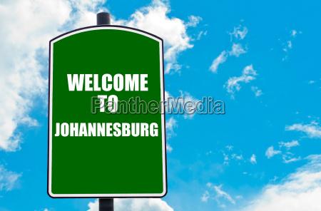 bem vindo a joanesburgo