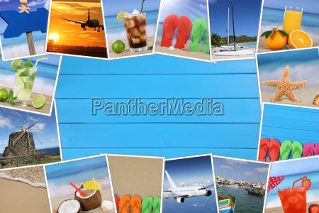 ramme fotos fra ferie med strand