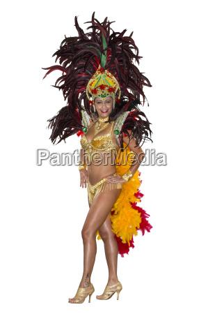 carnaval samba dancer vestido com traje