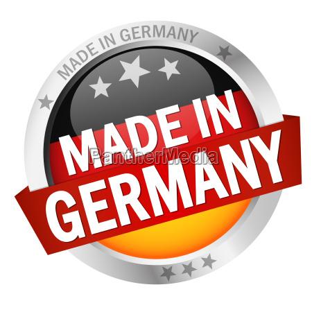 knap med banner made in germany