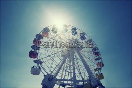 azul circulo abstrato roda roda gigante