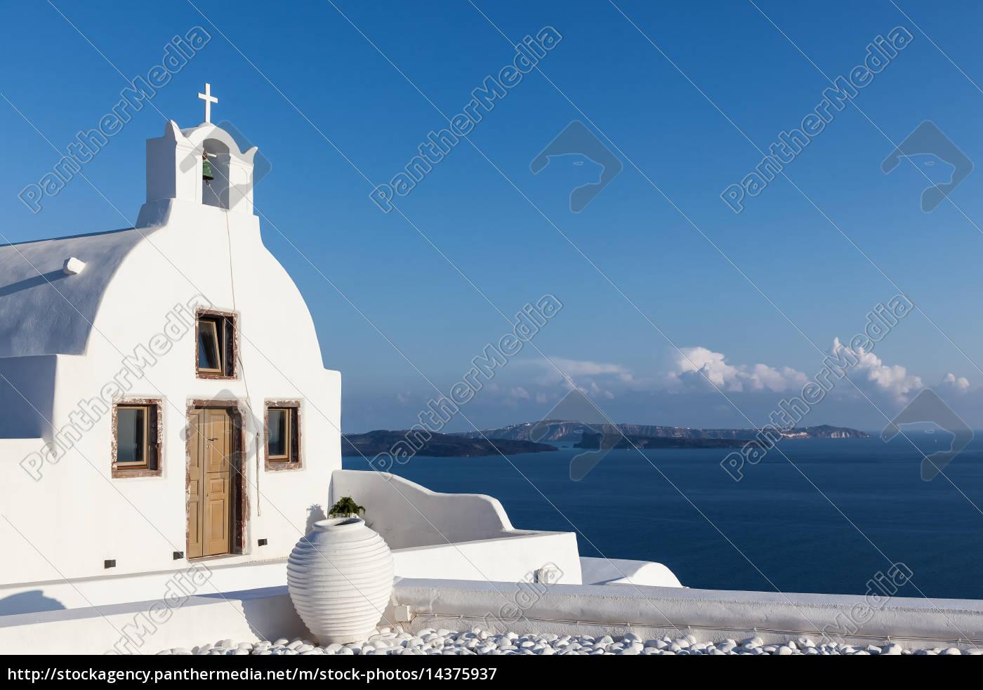 kleine, kapelle, in, oia - 14375937
