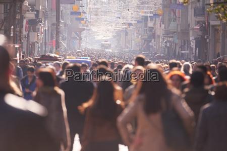 multidao povos que andam na rua
