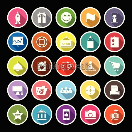 business start up flat icons with