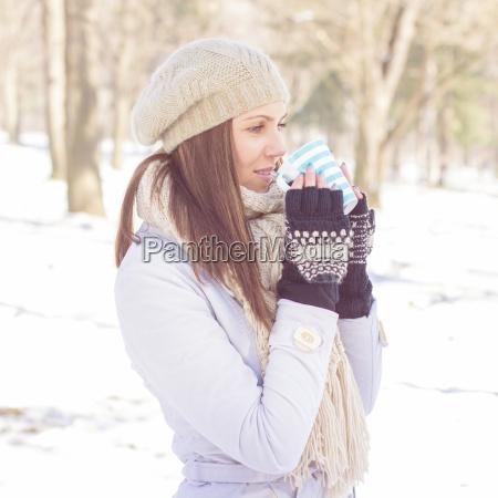 estilo de vida inverno retrato farejar