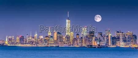 skyline da baixa de new york