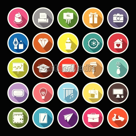 art and creation flat icons with