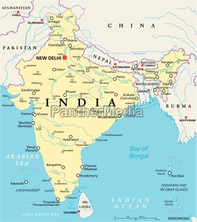mapa politico da India