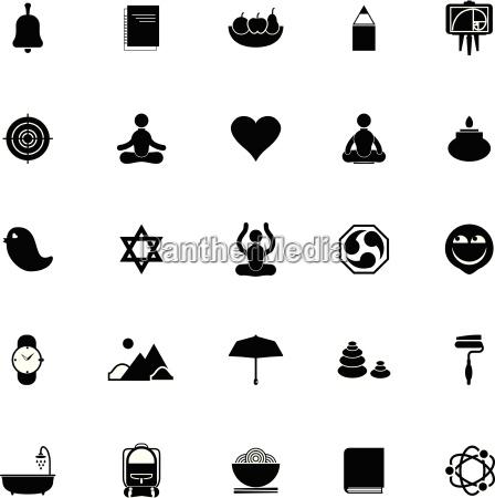 zen society icons on white background