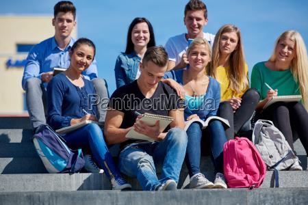 mulher estudo escada pessoas povo homem
