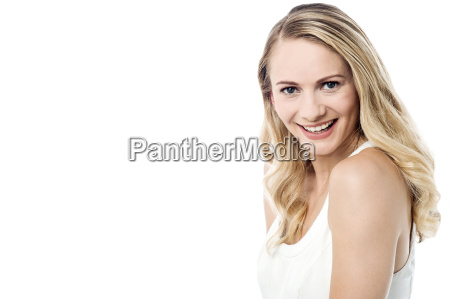 attractive looking woman smiling