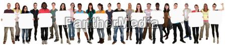 gruppe af unge holder folk kopi