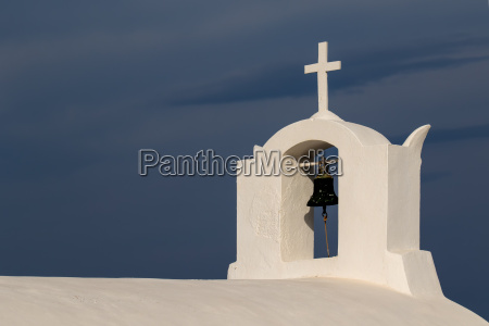 bell tower in oia