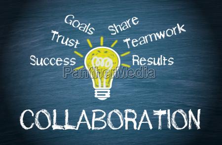 colaboracao conceito de negocios