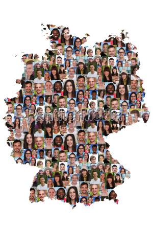 alemanha mapa pessoas jovens diversidade integracao