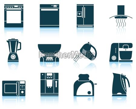 cozinha processador lareira capo cobrir icone