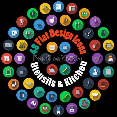 utensilios e icones de cozinha
