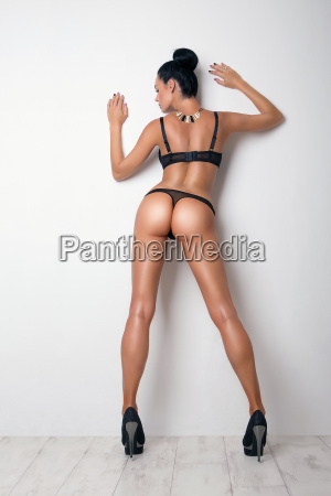 sexy curves girl butt in black