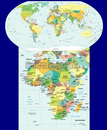 mundial e mapa de africa regiao