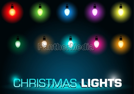 luzes de natal ajustadas