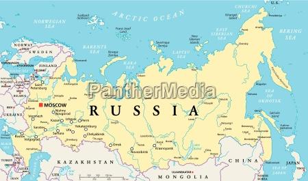 mapa politico da russia