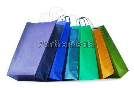 sacos de compras de papel isolado