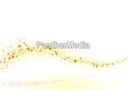 estrelas e confetti dourados