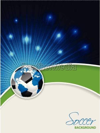 folheto abstrato do futebol com estouro