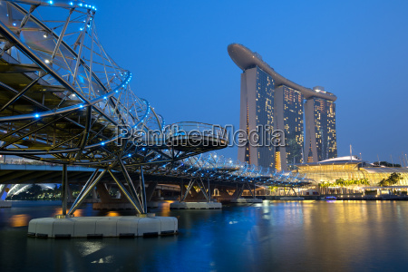 singapore singapore marina bay city skyline