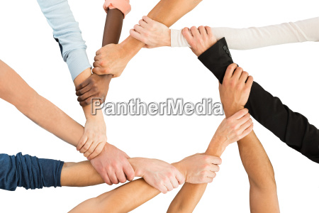 creative business people holding each others