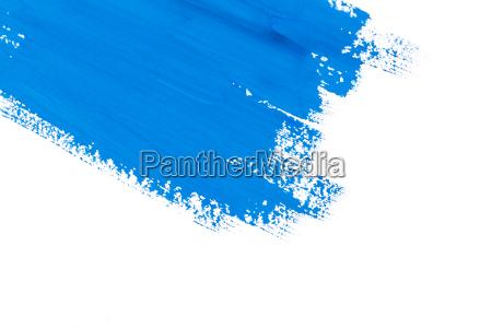 escova de pintura azul do curso