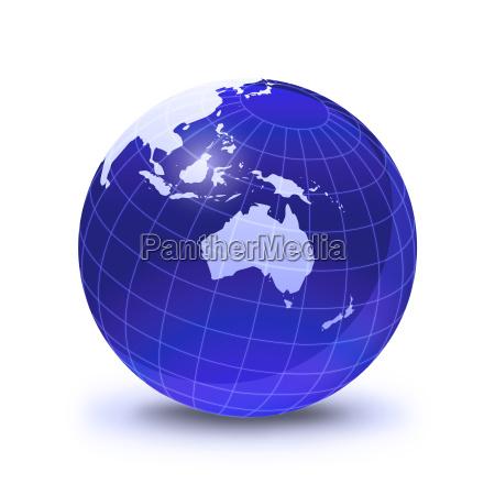 globo da terra estilizado em cor