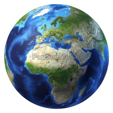 planeta terra com algumas nuvens europa