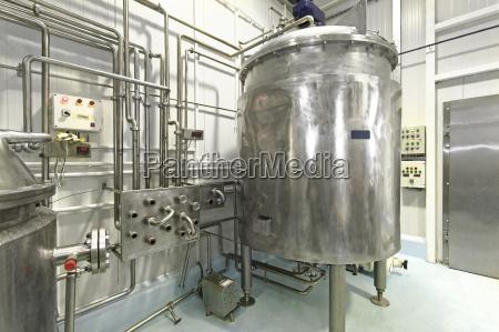 planta de processamento de leite