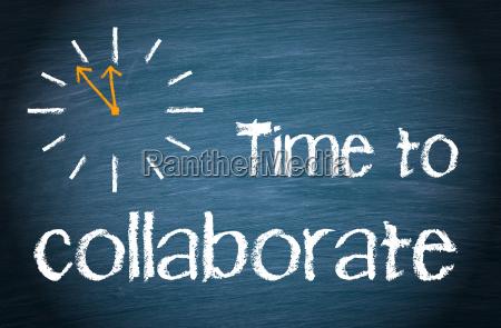 tempo para colaborar