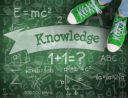 conocimiento contra la pizarra verde