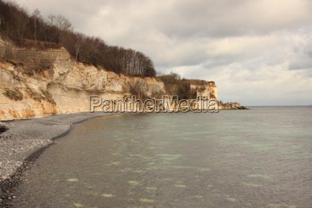 atracao reflexao rocha dinamarca agua mar