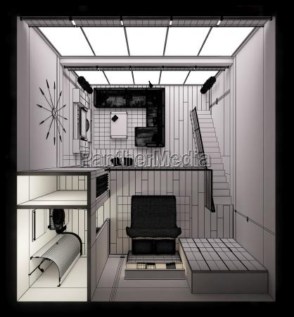 casa construcao dentro existir vida mobiliario