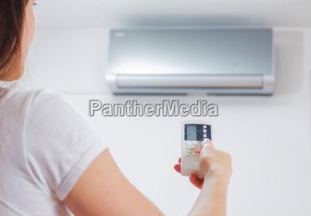 ajuste do condicionador de ar