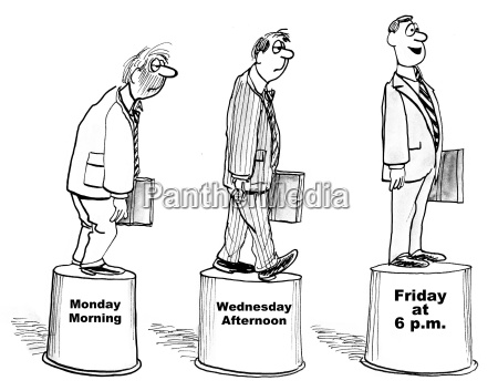 desenhos animados que mostram tres estagios