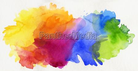arco iris da aguarela isentos abstrato
