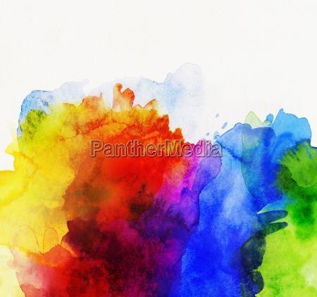 aquarell abstrakt regenbogen